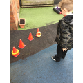 """You have to say the sound and then throw the quoit on it."""