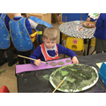 We painted with mud.