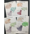 We mixed colours to paint the animals.