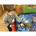 We explored an ocean environment.