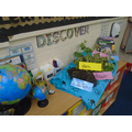 Miss Flint's Discovery Area. We are learning about plant's and space this week.