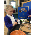 We used puppets to retell the story.