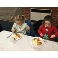 We enjoyed a Christmas Dinner.