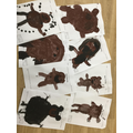 We painted bear pictures.