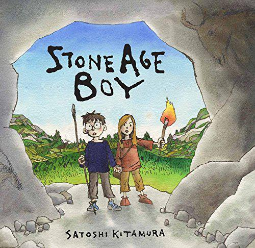 The Stone Age Boy book we are looking at in English.