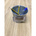 We recognise numbers and count the correct amount into the pots when we tidy up.