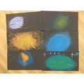 Using pastels to create space pictures