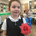 """I made a flower and I made the petals stick out."""