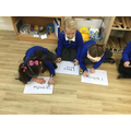We had a go at writing the keywords we found.