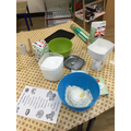 We followed the instructions to bake bread.