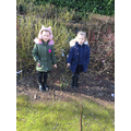 We went on a walk around school to look for signs of Spring.