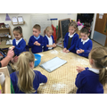 We created our own bread rolls.