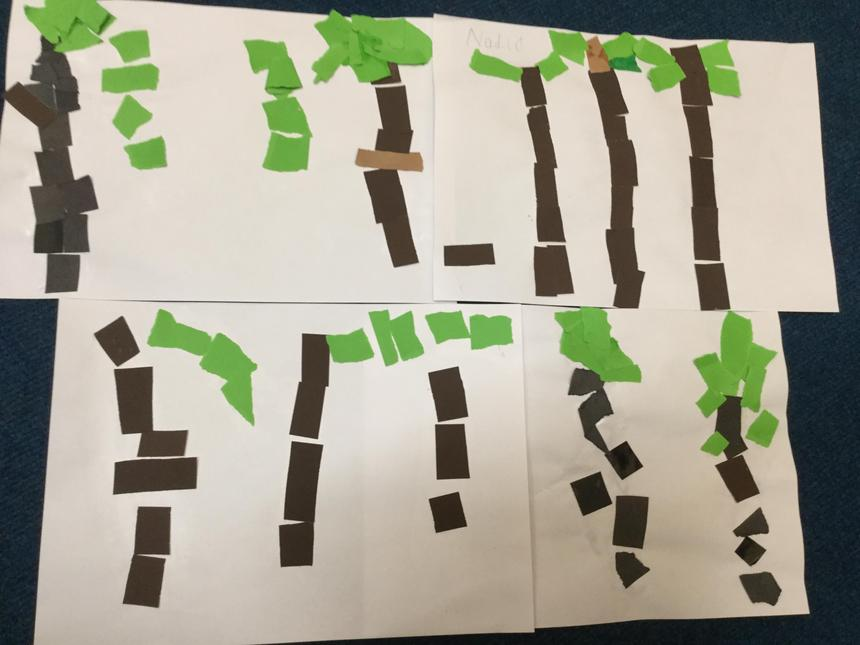 We created jungle collages.