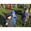 """""""We found some leaves on the grass."""""""