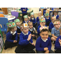 We found out abut the Harvest celebration.. We made Harvest crowns to wear.