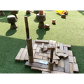 """""""My castle has got a tall tower for the knight to look out of and see the enemies."""""""