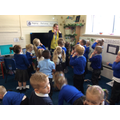 We sang our favourite song: Head, Shoulders, Knees and toes for WMD!