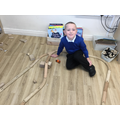 """""""I had to put a block under these pieces so I could make a bridge."""""""