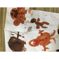 We painted gingerbread men.