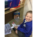 We have enjoyed retelling the Little Red Hen story and taking on character roles.