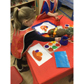 We observed and painted fruit.