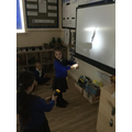 We explored using the torches.