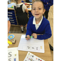We have been learning how to segment to spell words.