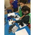 We studied pictures and then painted bats.