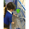 Testing out if our boats float and are waterproof