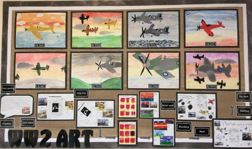 Year 6 WW2 Art