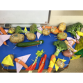 We made our own super vegetables.