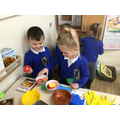 We created our own stories through role play.