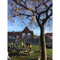 We explored our outdoor environment and talked about things we could see.