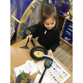 We flipped the pancakes and read the word underneath.