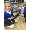 """""""I built a castle for the giant to live it.. I balance the blocks."""""""