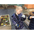We went on a word hunt in the garden!