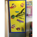 Our class door was decorated.