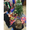 We enjoyed decorating the tree.