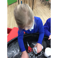 We explored rubbing salt on the ice.
