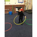 We have completed obstacle courses in P.E.