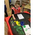We explored ice paint.