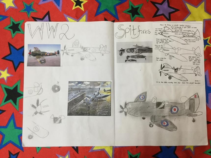 Developing the Spitfire drawings.