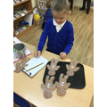 We learnt a rhyme about some gingerbread men.