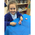 Creating the Three Pigs after sharing the story