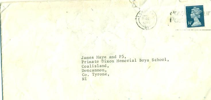 A tattered and torn envelope .... October 1988