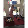 Winner of the Summer Attendance Bike!