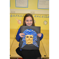 Lainey with her death mask