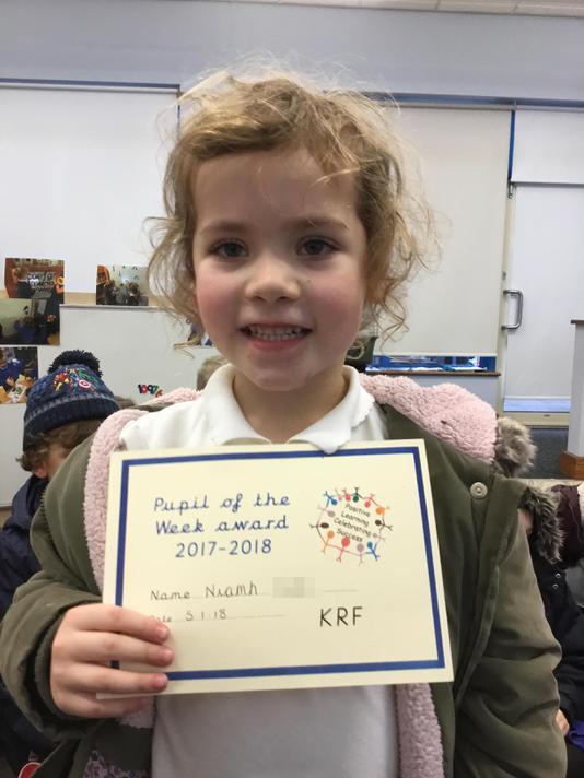 Niamh (Headteacher's Award) 05.01.18