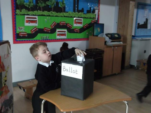 Year 1 pupil voting