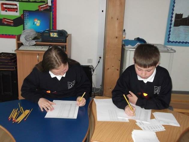 Head Boy and Girl at the School's Polling Station